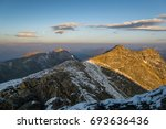first light on mount evans  and ... | Shutterstock . vector #693636436