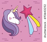 magical unicorns design  | Shutterstock .eps vector #693643252