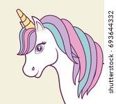 magical unicorns design  | Shutterstock .eps vector #693644332