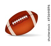american football isolated on... | Shutterstock .eps vector #693644896