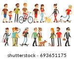 women and men in various... | Shutterstock . vector #693651175