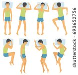 person sleep positioning  man... | Shutterstock . vector #693652756
