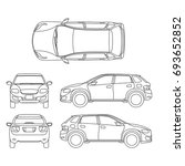offroad suv auto outline... | Shutterstock . vector #693652852