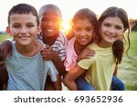portrait of smiling young... | Shutterstock . vector #693652936