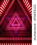 3d render  neon lights ... | Shutterstock . vector #693653122