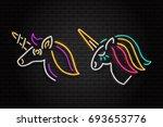 vector set of realistic... | Shutterstock .eps vector #693653776