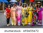 the group of women wear... | Shutterstock . vector #693655672