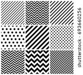 set of abstract geometric... | Shutterstock .eps vector #693660256