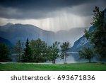 lake bohinj  slovenia  europe.... | Shutterstock . vector #693671836