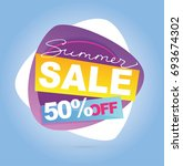 summer sale banner. vector... | Shutterstock .eps vector #693674302