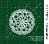 vector blueprint target icon on ... | Shutterstock .eps vector #693678472