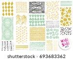 vector hand drawn textures.... | Shutterstock .eps vector #693683362
