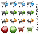 vector add delete shopping cart ... | Shutterstock .eps vector #69368389