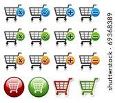 vector add delete shopping cart ...   Shutterstock .eps vector #69368389
