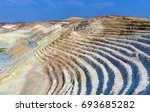 view of on open quarry... | Shutterstock . vector #693685282