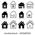 set of 12 house icon | Shutterstock .eps vector #69368554