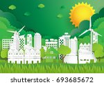 ecological green nature... | Shutterstock .eps vector #693685672