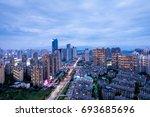 night city | Shutterstock . vector #693685696
