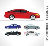 car icons. vector. | Shutterstock .eps vector #69368713