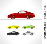 car icons. vector. | Shutterstock .eps vector #69368716