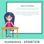 back to school poster with... | Shutterstock .eps vector #693687328