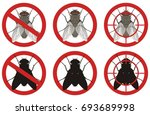 warning stop sign with a color... | Shutterstock .eps vector #693689998