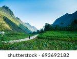 meo vac town  ha giang  vietnam    Shutterstock . vector #693692182