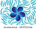 abstract blue flower background | Shutterstock .eps vector #693702166