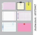 set of note papers. vector... | Shutterstock .eps vector #69370447