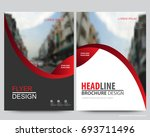 red abstract annual report...   Shutterstock .eps vector #693711496
