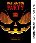 halloween party poster a4.... | Shutterstock .eps vector #693726178