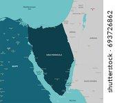 vector map of sinai peninsula... | Shutterstock .eps vector #693726862