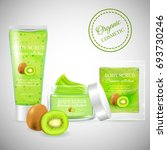 realistic packaging body scrub... | Shutterstock .eps vector #693730246