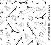 Skateboard Seamless Pattern...
