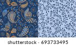 Set Of Two Coordinated Paisley...