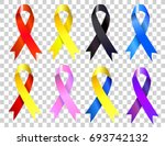 colorful awareness ribbons... | Shutterstock .eps vector #693742132