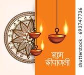 happy diwali wallpaper design...   Shutterstock .eps vector #693747736