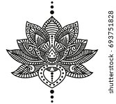 vector image of lotus flower... | Shutterstock .eps vector #693751828