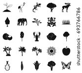 african wildlife icons set.... | Shutterstock .eps vector #693766786