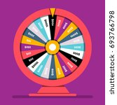 realistic spinning fortune... | Shutterstock .eps vector #693766798