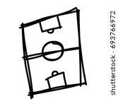 hand draw soccer field | Shutterstock .eps vector #693766972