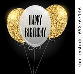 happy birthday invitation with... | Shutterstock . vector #693767146