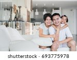 young happy asian family at... | Shutterstock . vector #693775978