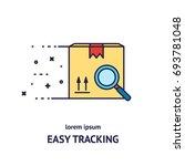 cargo cargo tracking logotype... | Shutterstock .eps vector #693781048