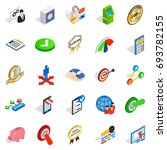 leadership icons set. isometric ... | Shutterstock .eps vector #693782155