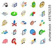 leadership icons set. isometric ... | Shutterstock .eps vector #693782155