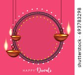 happy diwali wallpaper design... | Shutterstock .eps vector #693783298