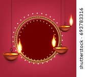 happy diwali wallpaper design... | Shutterstock .eps vector #693783316