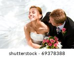wedding couple hugging  the... | Shutterstock . vector #69378388