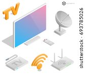 realistic icons in isometric... | Shutterstock .eps vector #693785026